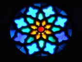 Stained glass window detail, S. Maria d'Aracoeli — Stockfoto