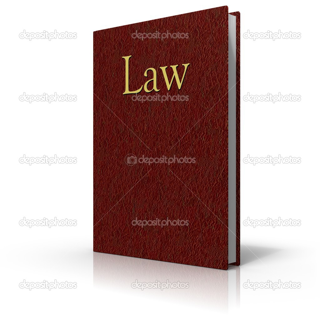 Old Law Book Cover ~ Law book with red leather cover — stock photo pedro ii