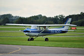 Air plane at Lelystad Airport, The Netherlands — Stock Photo