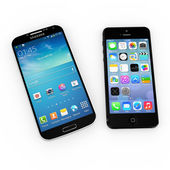 Samsung S5 and iPhone 5s — Stock Photo