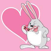 Sweet rabbit — Stock Vector