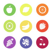 Fruit web icons — Stock Vector