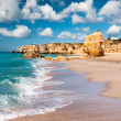 Golden beaches of Albufeira — Stock Photo