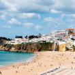Albufeira beach in Western Portugal — Stock Photo