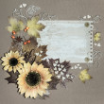 Autumn postcard — Stock Photo