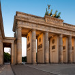 Foto Stock: Berlin, Brandenburg Gate at dawn