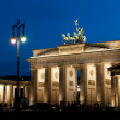 Stock Photo: Berlin, Brandenburg Gate at night