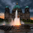 Berlin Cathedral in the evening — Stock Photo