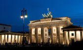 Berlin, Brandenburg Gate at night — Stock Photo