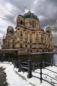 Berlin Cathedral in winter — Stock Photo