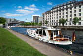 River boat on Spree in Berlin — Stock Photo