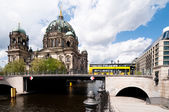 Berlin Cathedral, view over water — Stock Photo