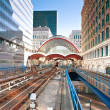 Canary Wharf station in London — Foto Stock