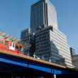 Stock Photo: Train at Canary Wharf