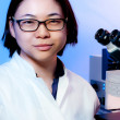 Young oriental scientist — Stock Photo #33364491