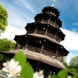 Stock Photo: Chinese pagodin English Garden in Munich