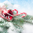 Stock Photo: Red and white Christmas decorations
