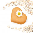 Gingerbread hearts on white background — Stock Photo