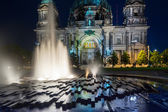 Berlin Cathedral illuminated at night — Stock Photo