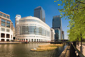 Office buildings at Canary Wharf in London — Stock Photo