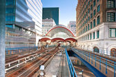 Canary Wharf station in London — Stock Photo
