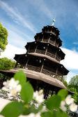 Chinese pagoda in English Garden in Munich — Stock Photo