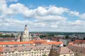 Aerial shot of Dresden with Frauenkirche — Stock Photo