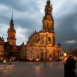 Dresden, closeup on Frauenkirche — 图库照片