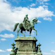 Statue of King John in Dresden — Stock Photo