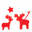 Stock Photo: Xmas raindeers