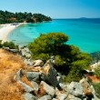 Sandy bay, Sithonia, Northern Greece — Stock Photo