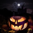 Jack o'Lantern on Halloween night — Stock Photo