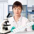 Histopathologist with tissue samples — Stock Photo #33379129