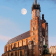 Stock Photo: St. Mary's Gothic Church in Krakow