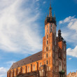 Stock Photo: St. Mary's church in Krakow, Poland