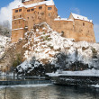 Stock Photo: Saxony, Kriebstein castle in winter
