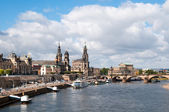 Dresden from across Elbe river — Stock Photo