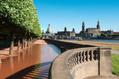 Riverside park in Dresden, Germany — Stock Photo