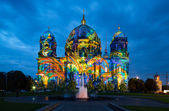 Berlin Cathedral illuminated during FESTIVAL OF LIGHTS — Stock Photo