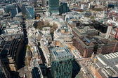 London, aerial view over the City — Stock Photo