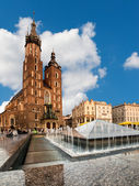 St. Mary's Gothic Church in Krakow — Stock Photo