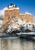 Saxony, Kriebstein castle in winter — Stock Photo