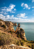 Lagos cliffs in Portugal — Stock Photo