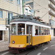 Yellow tram in Lisbon, Portugal — Stock Photo