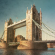 Aged photo of Tower Bridge — Stock Photo