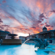 Stock Photo: Trafalgar Square at sunset