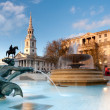 Stock Photo: Fountain on Trafalgar Square