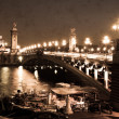 Alexandre III Bridge in Paris, sepia — Stock Photo