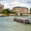 Ile de la Cite, view from across the water — Stock Photo