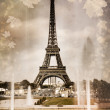 Seasonal picture of Eiffel tower in Paris — Stock fotografie